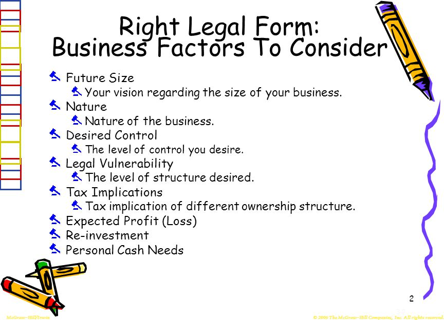 3-1 Forms Of Ownership Of Small Business Primary Legal Forms ...