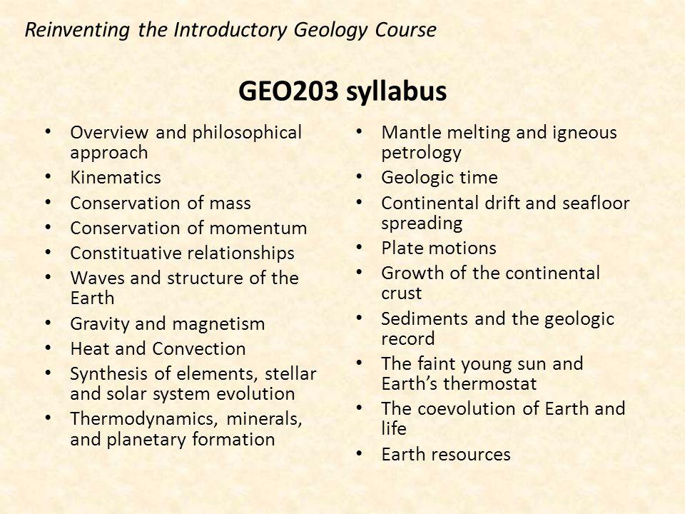 geology net syllabus