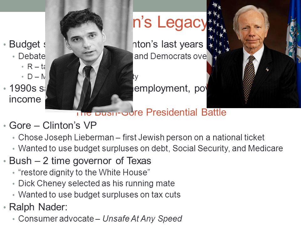 an analysis of the debated between republican dick cheney ann democrat joseph lieberman