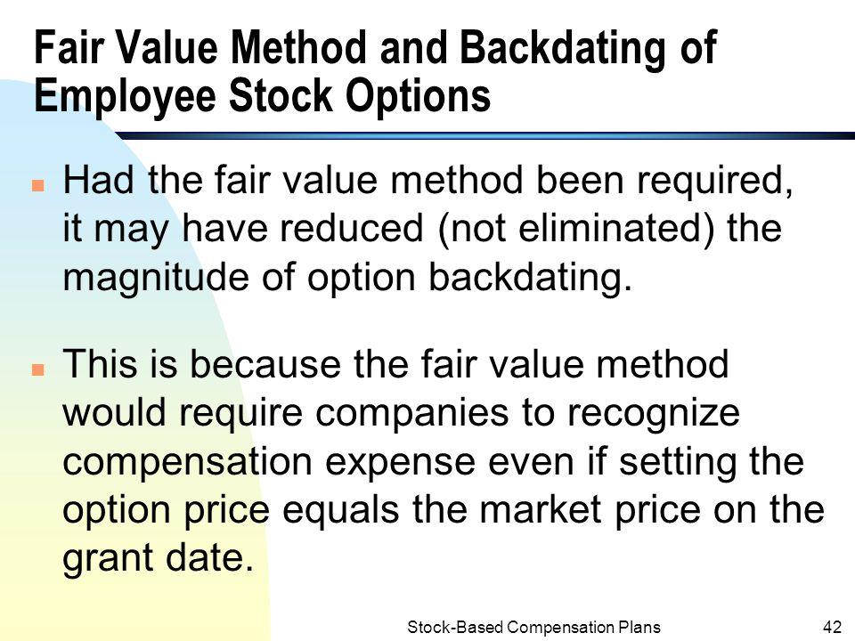Employee stock option backdating