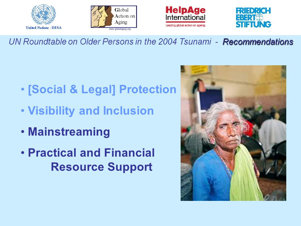 [Social & Legal] Protection Visibility and Inclusion Mainstreaming Practical and Financial Resource Support