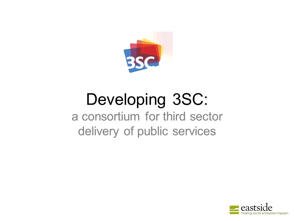 Developing 3SC: a consortium for third sector delivery of public services