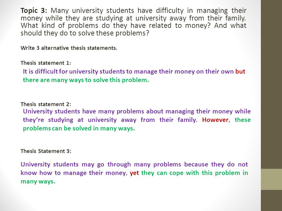 problem statement thesis writing How to write a problem statement three parts:sample problem statements writing your own problem statement polishing your problem statement for academic work, don't forget a thesis statement when you have to write a problem statement for school, rather than for work, the.