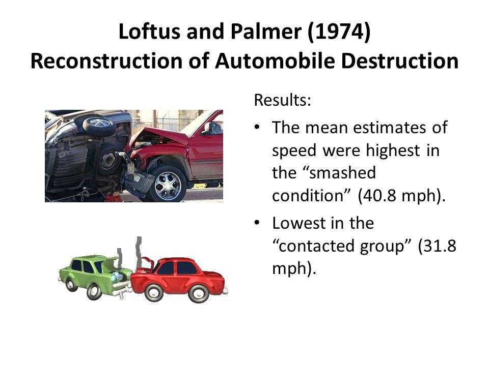 loftus and palmers aims and context