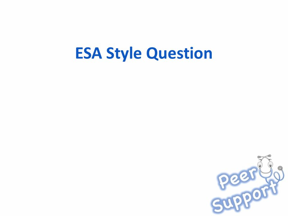 ESA Style Question