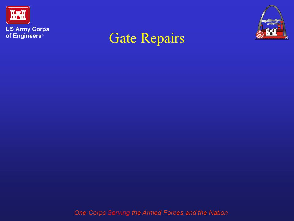 One Corps Serving the Armed Forces and the Nation Gate Repairs