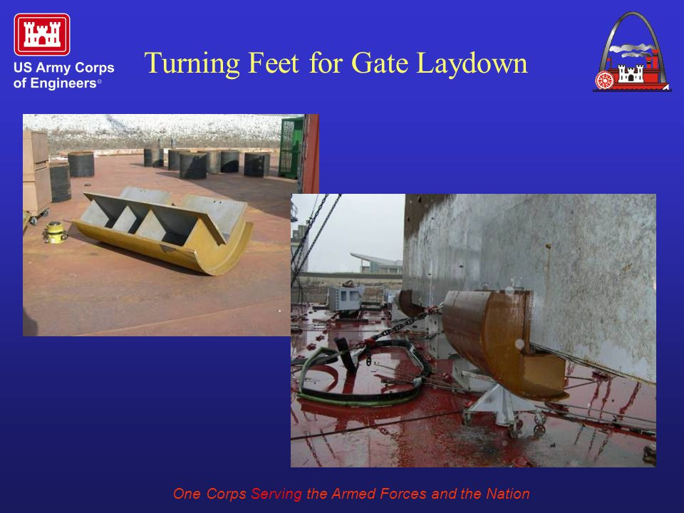 One Corps Serving the Armed Forces and the Nation Turning Feet for Gate Laydown