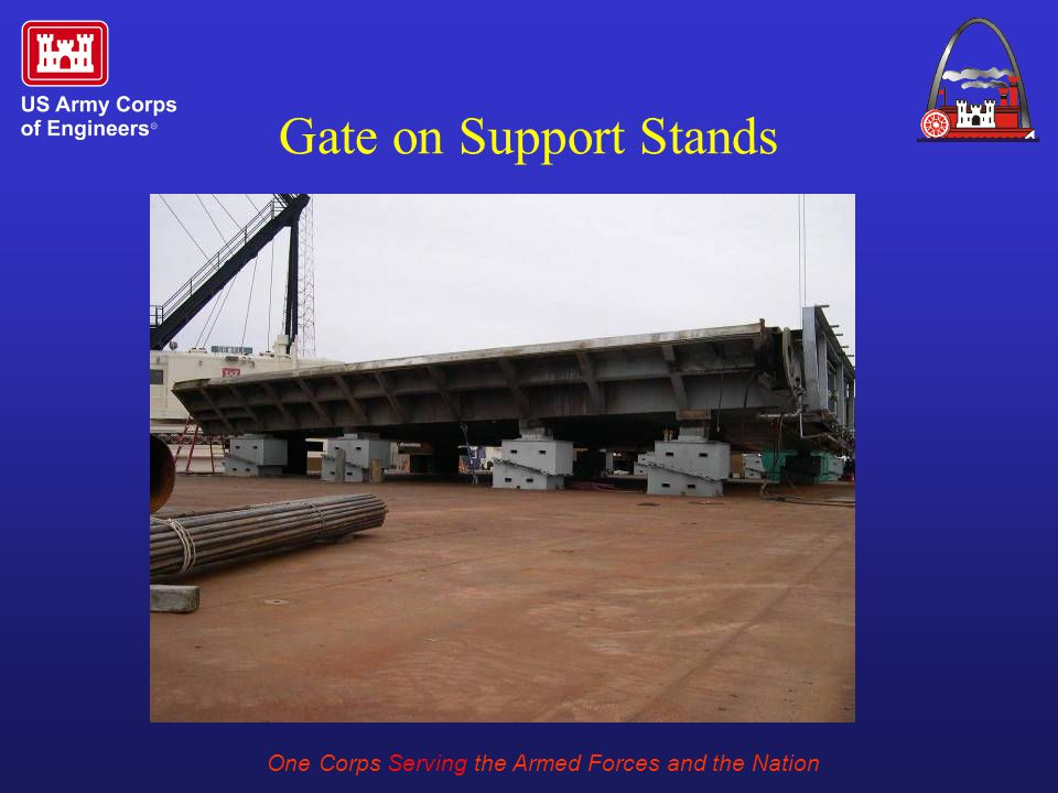 One Corps Serving the Armed Forces and the Nation Gate on Support Stands