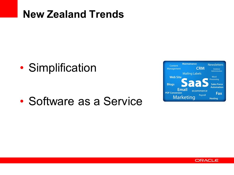 New Zealand Trends Simplification Software as a Service