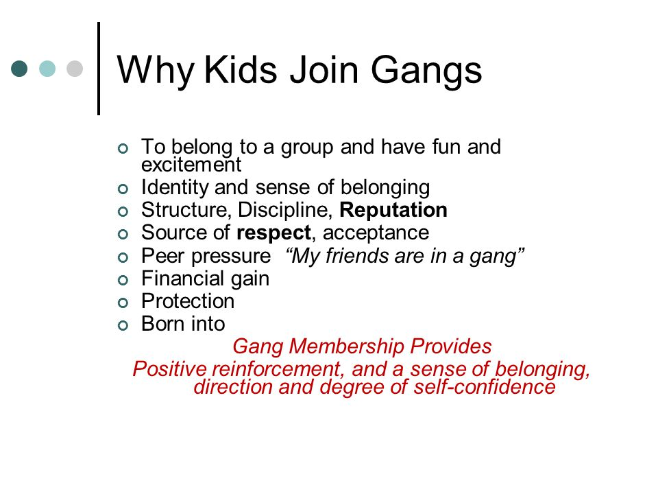 why people join gangs essay