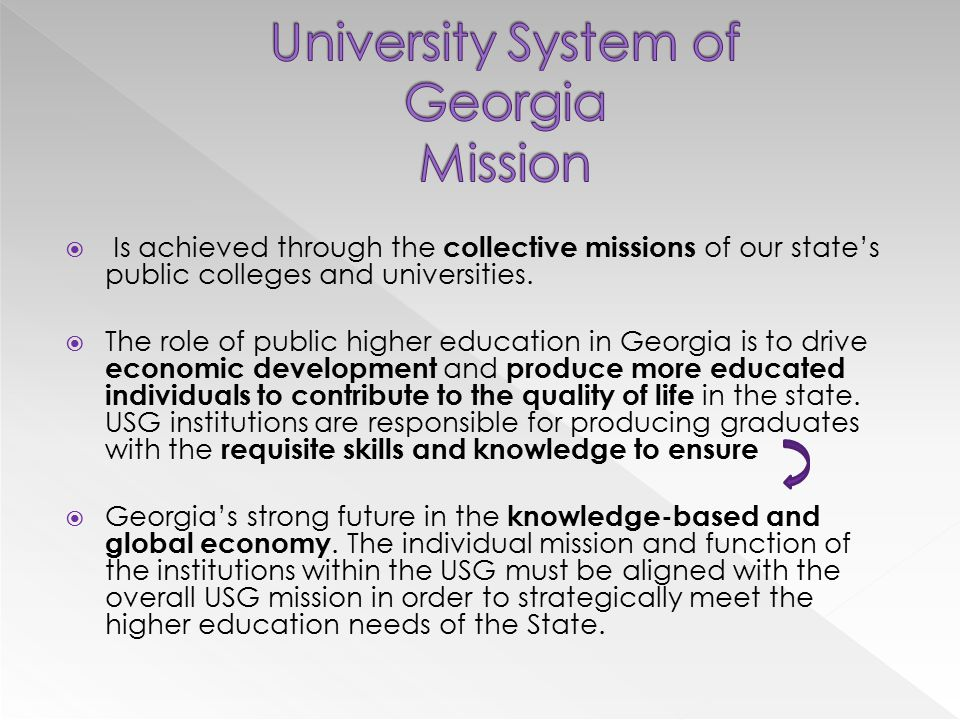  Is achieved through the collective missions of our state's public colleges and universities.
