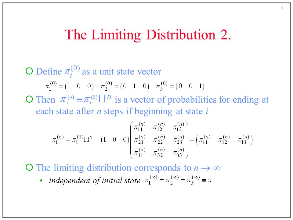 7 The Limiting Distribution 2.
