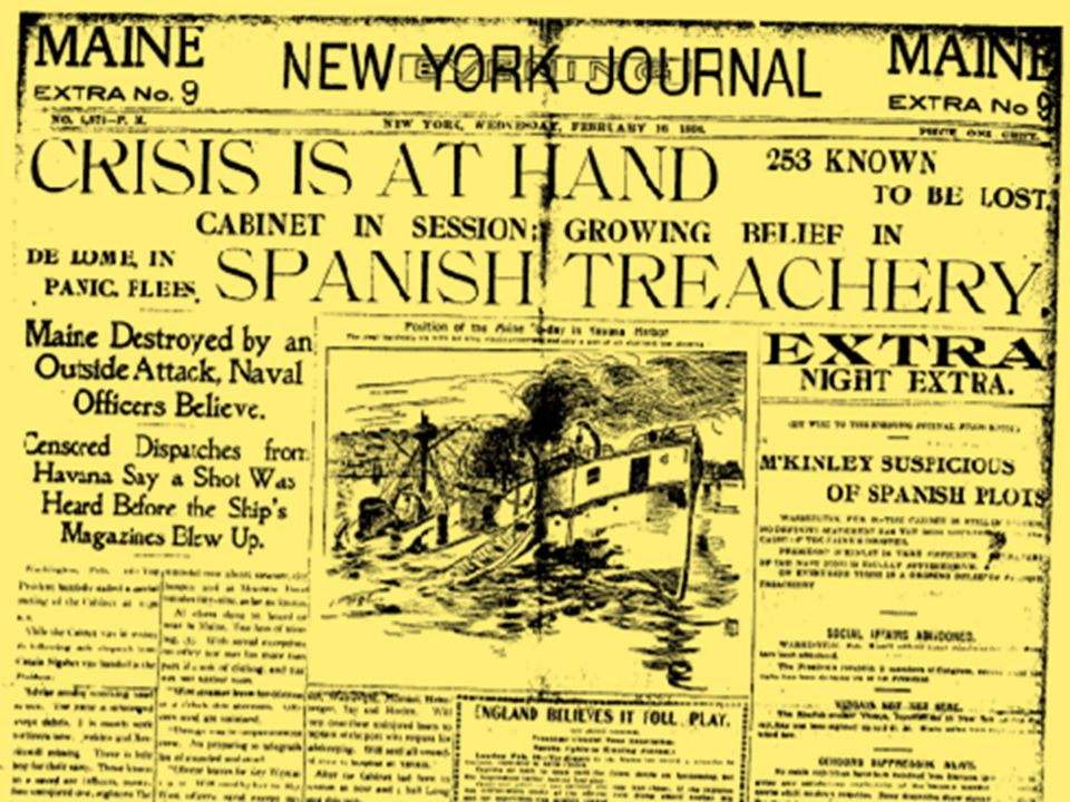 "yellow journalism attributed to the start of the spanish american war Spanish american warnotebook 1 ""yellow journalism"" & jingoism de lôme letter •dupuy de lôme, spanish ambassador to the us."