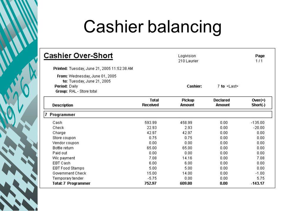cashier balancing