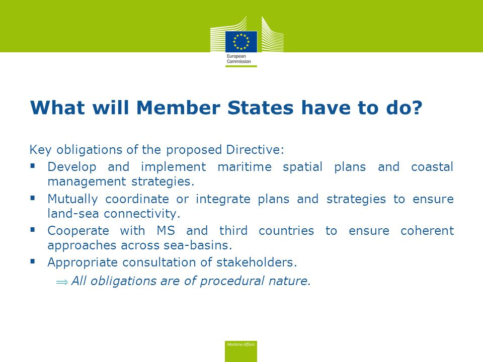 What will Member States have to do.