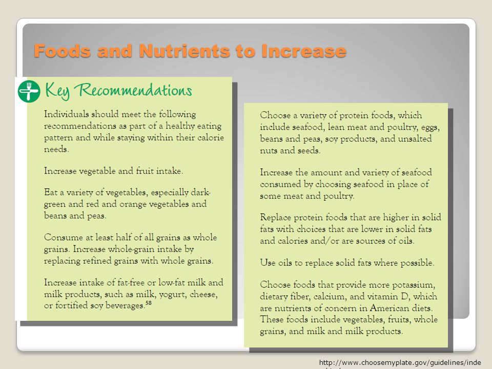 Foods and Nutrients to Increase   x.html