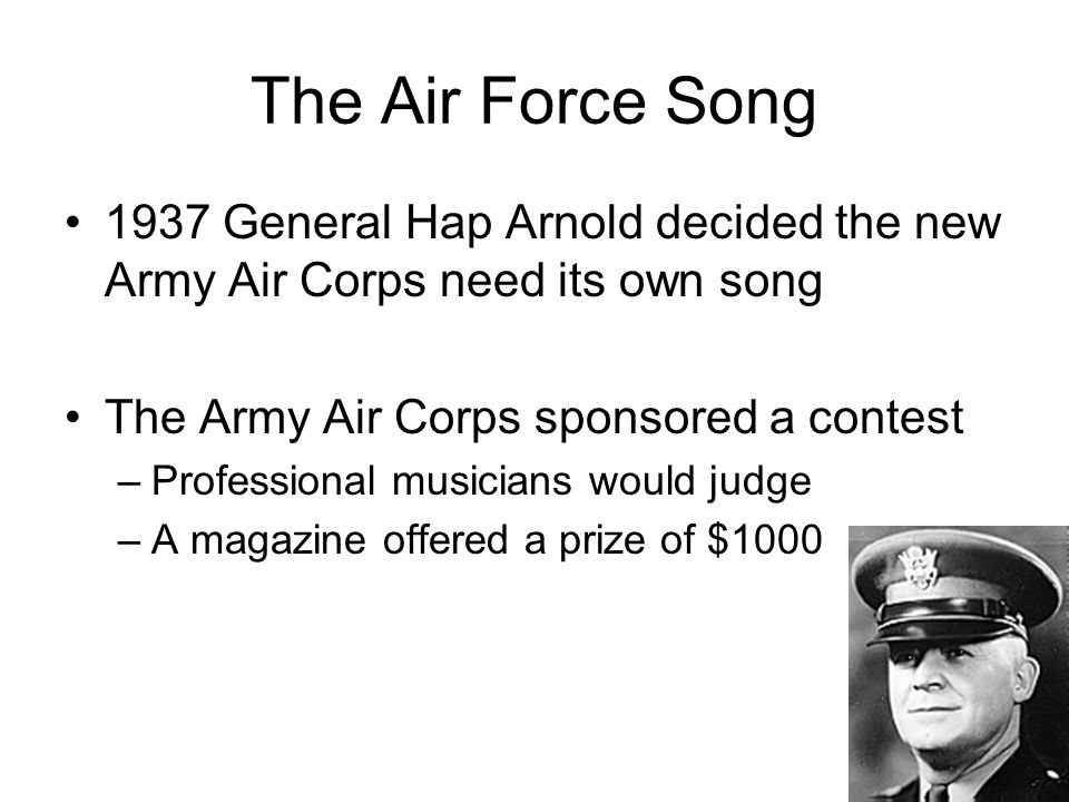 The Air Force Song Aka Off We Go Into The Wild Blue Yonder. - ppt ...