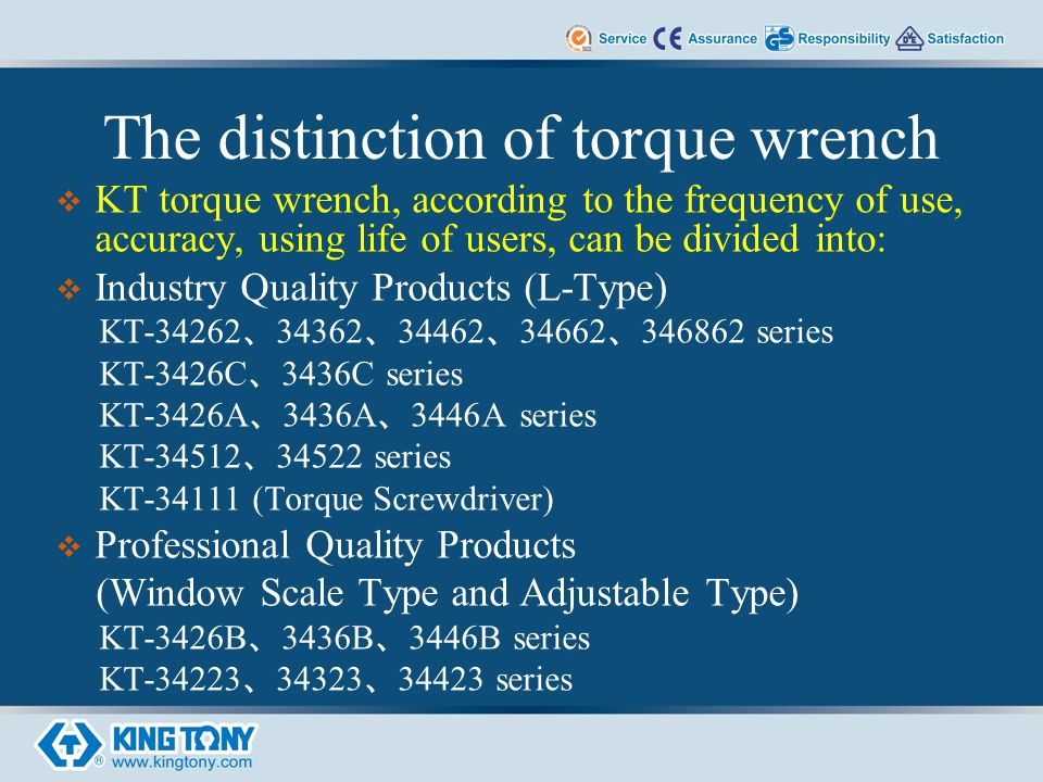Textbook of kt torque wrench series the industry quality torque wrench