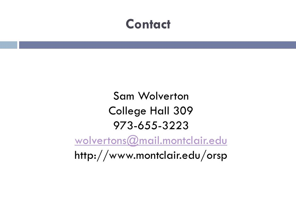 Contact Sam Wolverton College Hall
