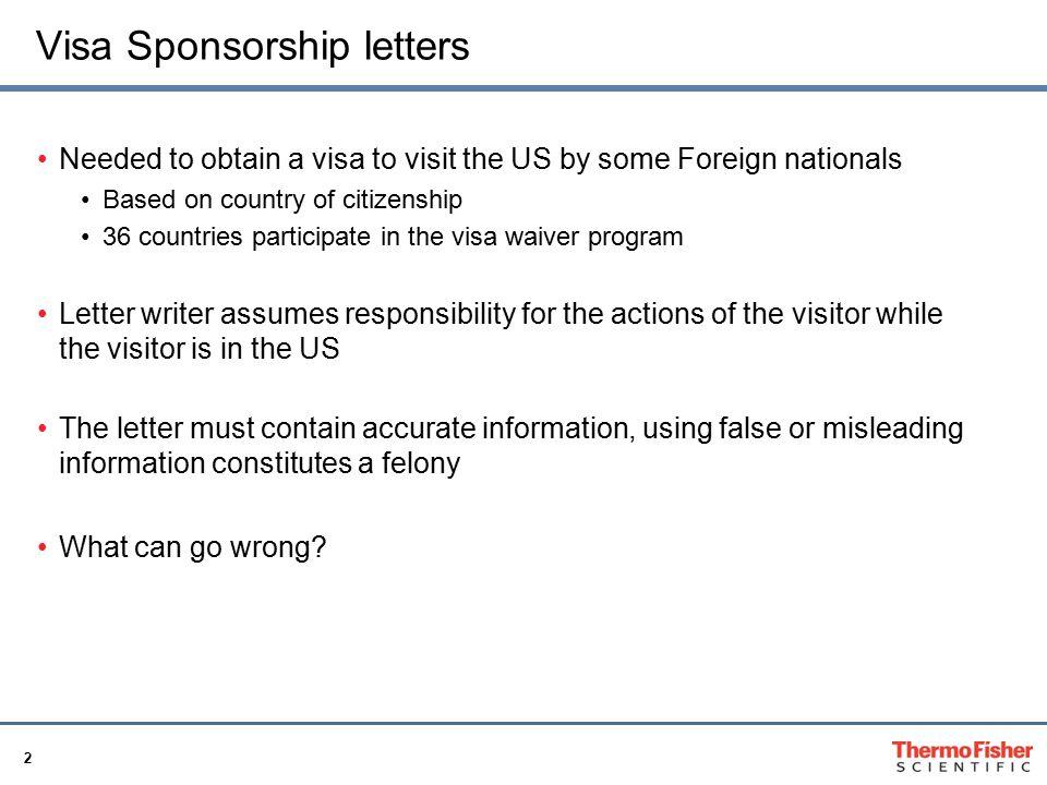Visa Sponsorship Letter Best Practice Procedure Tracy Horridge