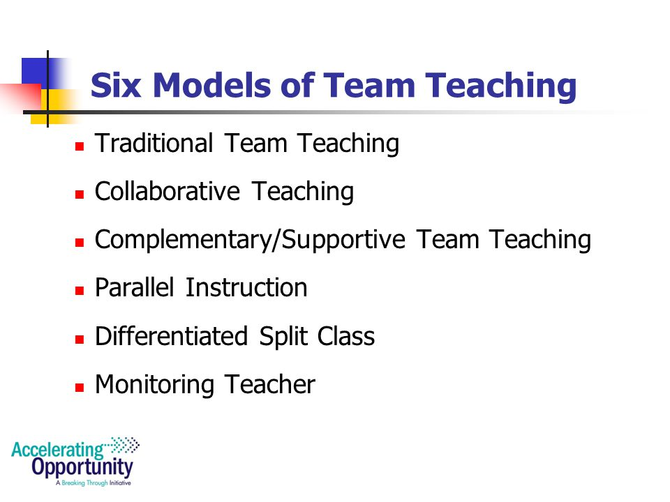 Team Teaching Team teaching can be difficult.