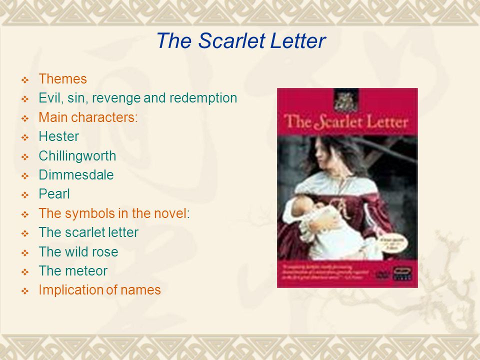 the scarlet letter theme revenge essay Learn about themes in the scarlet letter  4 themes in the scarlet letter for an easy a on your essay the theme of revenge in the scarlet letter is embodied.