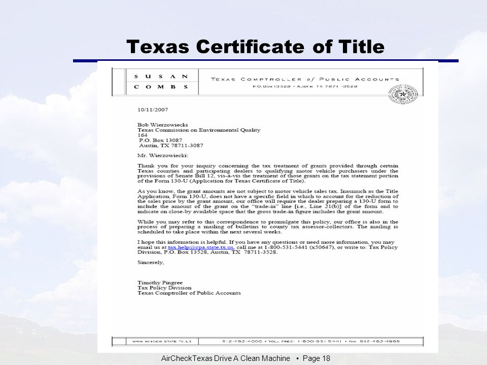 Texas Certificate Of Title Form Ibovnathandedecker