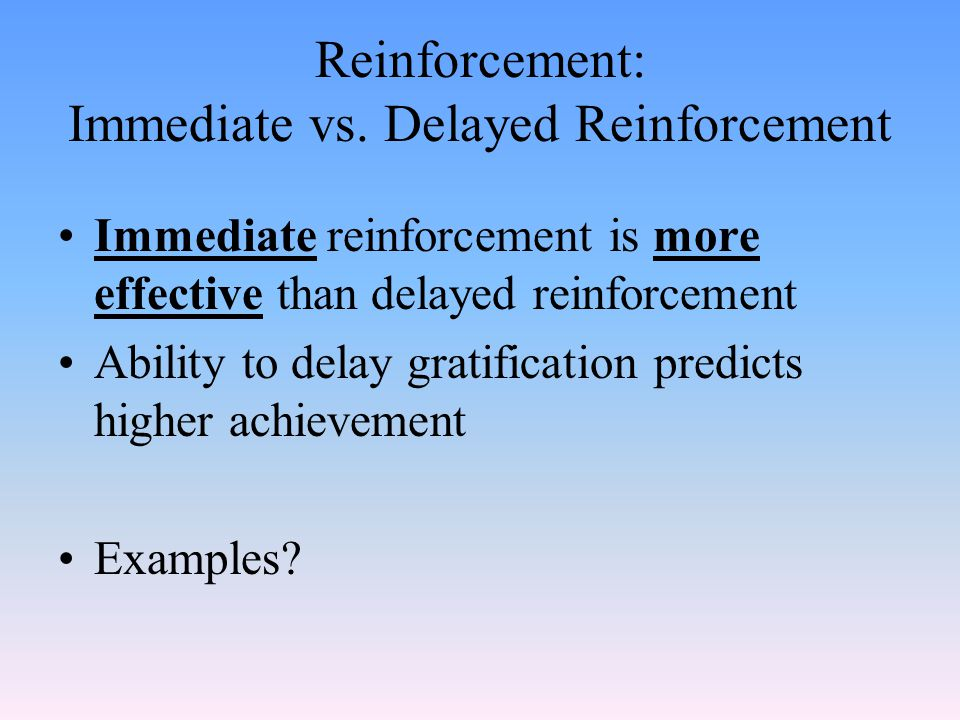Positive/Negative Reinforcement: See the difference