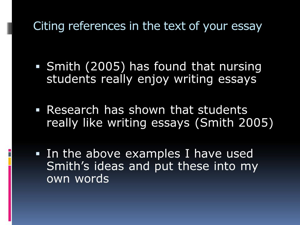 why and how referencing  this is very important for task  5 citing references