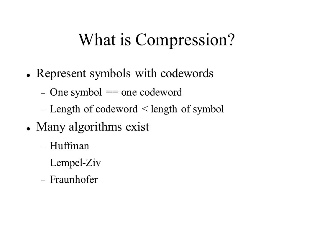 What is Compression.