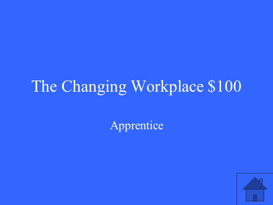 The Changing Workplace $100 Apprentice