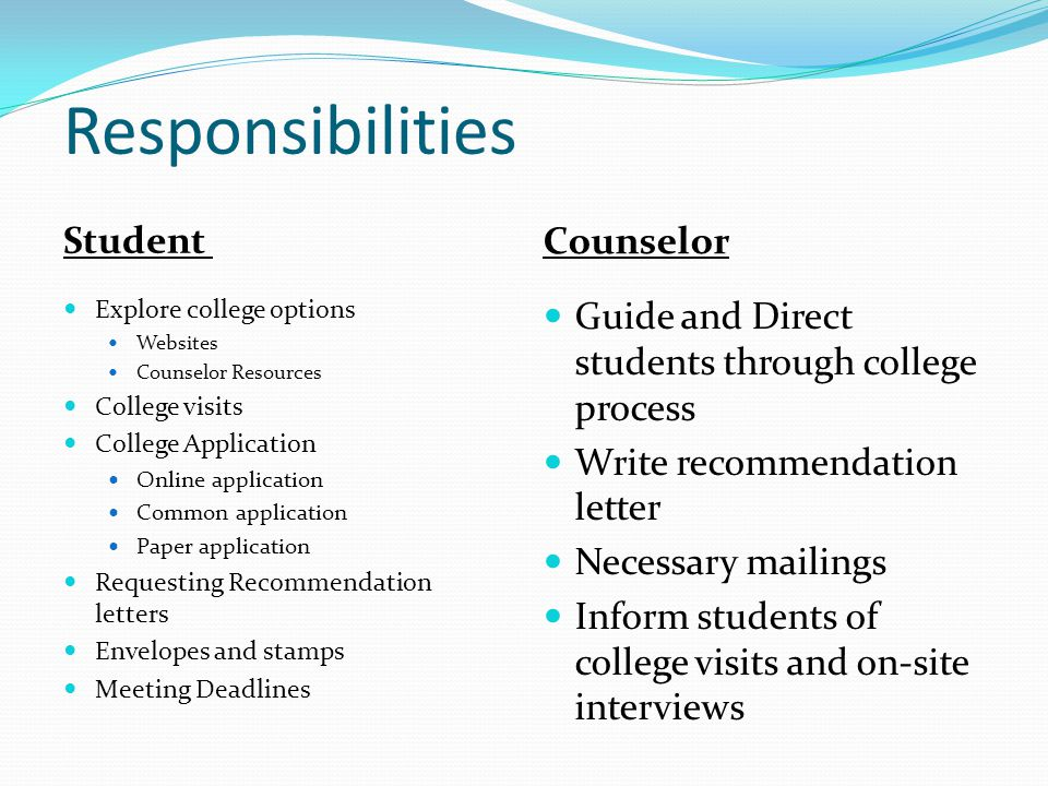 college application letter of recommendation deadline