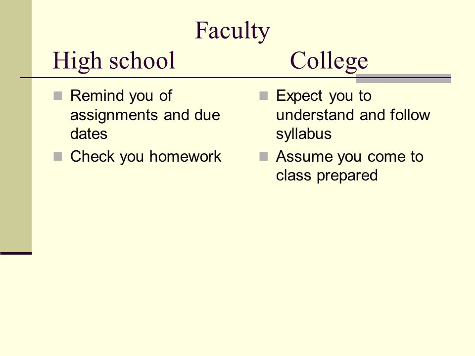 What is the structure of college?