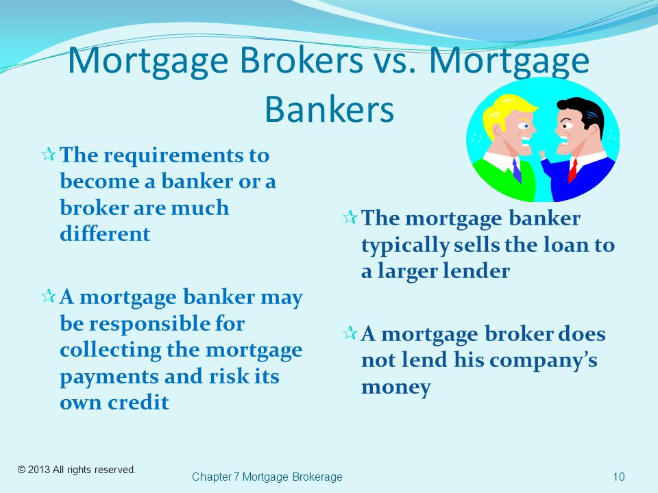 © 2013 All rights reserved. Mortgage Brokers vs.