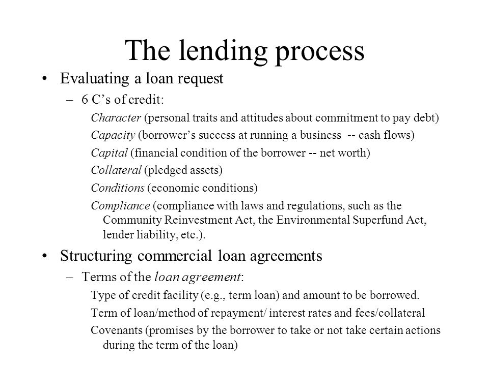 Commercial And Industrial Lending Outline The Role Of Asymmetric