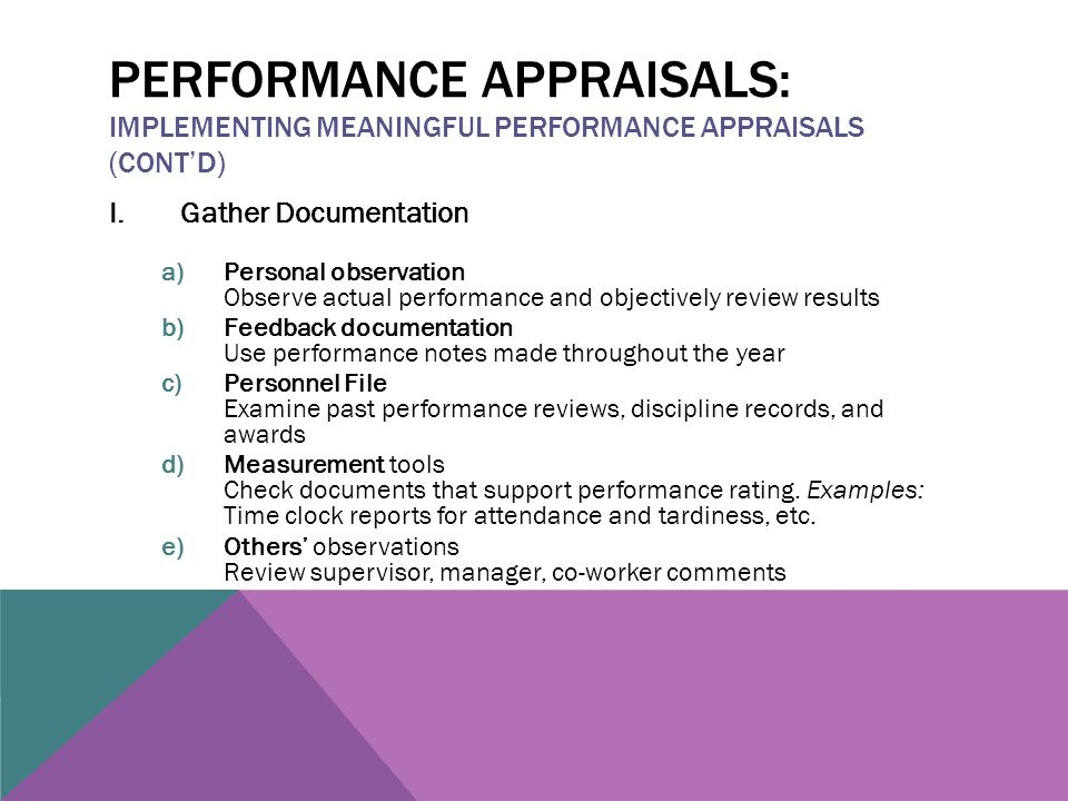 personnel reviews examples