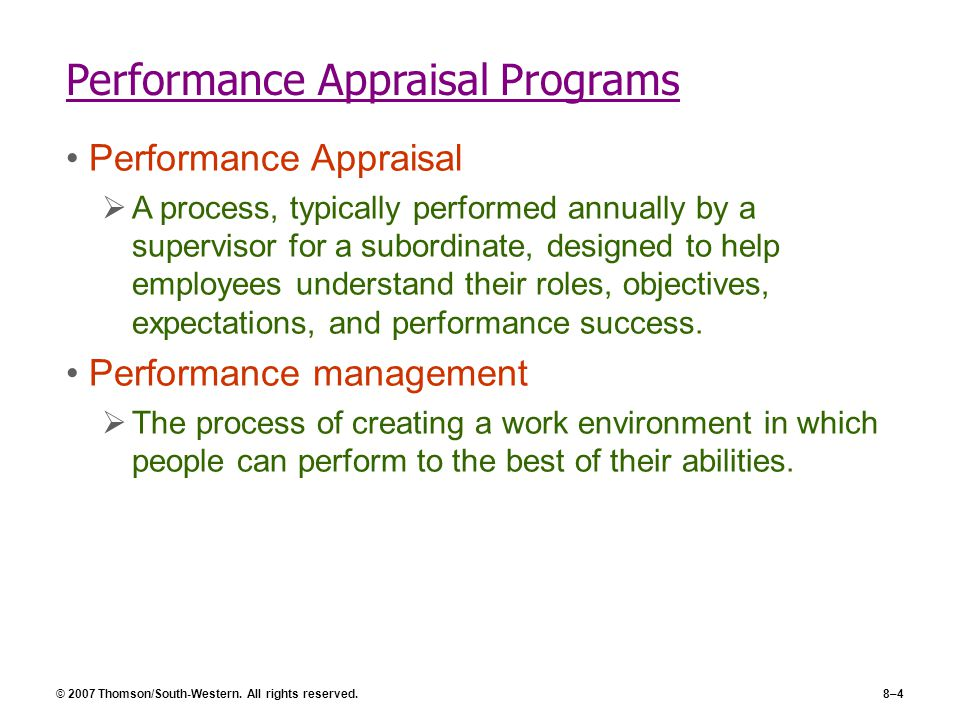 performance appraisal 6 essay