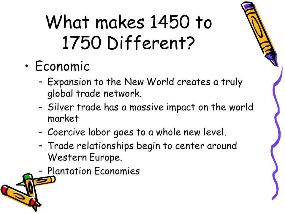 What makes 1450 to 1750 Different.