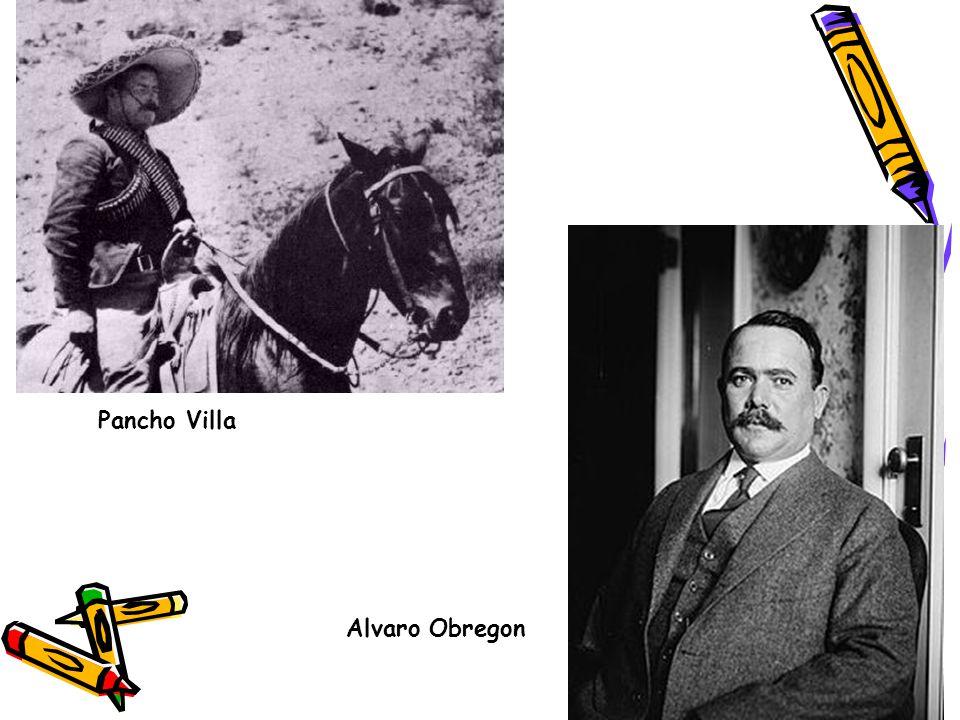 Pancho Villa Alvaro Obregon