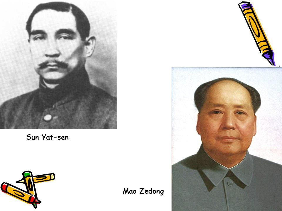 Sun Yat-sen Mao Zedong
