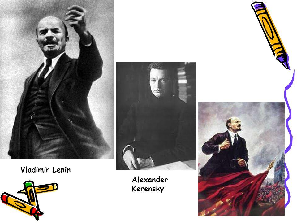 Vladimir Lenin Alexander Kerensky