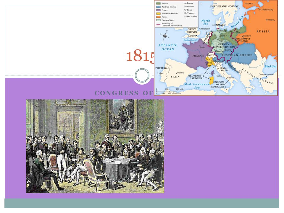 CONGRESS OF VIENNA 1815