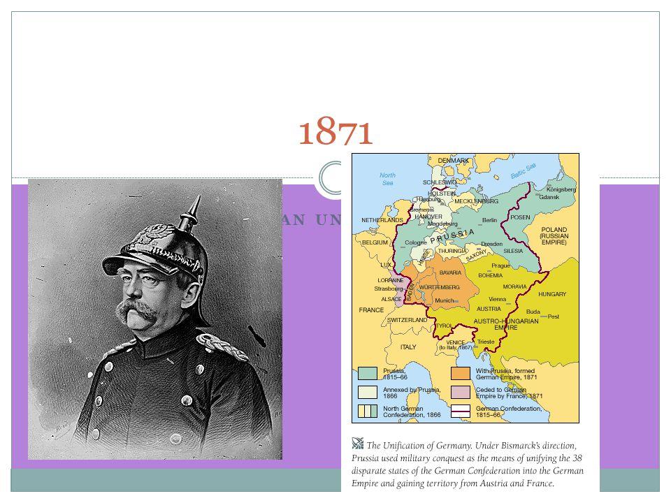 GERMAN UNIFICATION 1871
