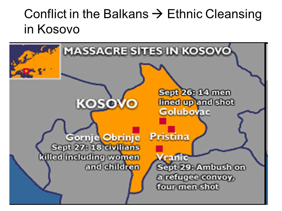 Conflict in the Balkans  Ethnic Cleansing in Kosovo