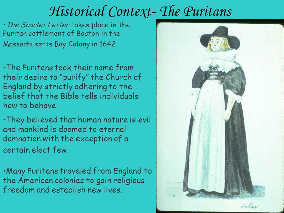 th life of puritan society in the scarlet letter Free scarlet letter essays: hester and the puritan society hester and the puritan society of the scarlet letter was branded for life with a cloth letter worn.