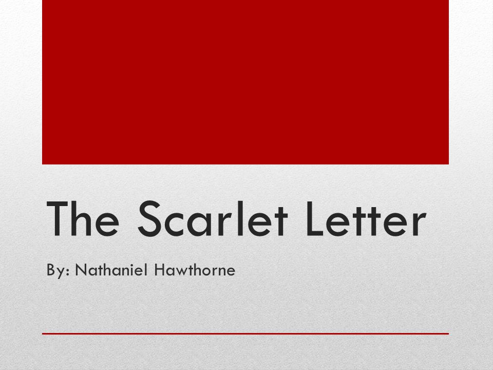 the scarlet letter journal entry