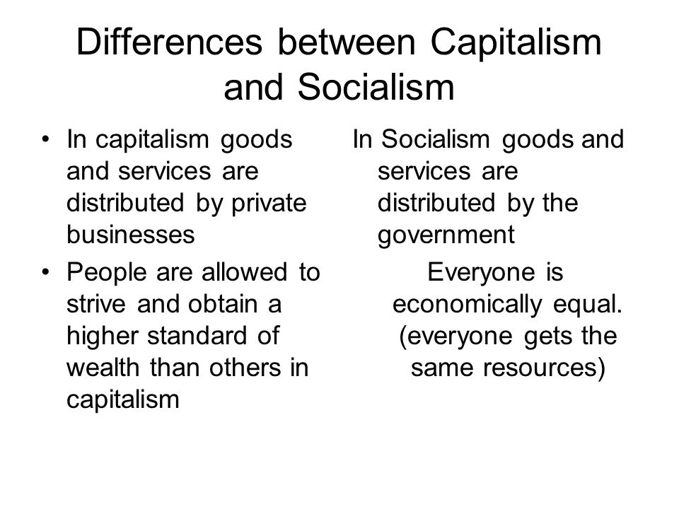 the difference between capitalism and socialism essay Capitalism vs socialism harrison bergeron essay: compare the epic war or socialism vs capitalism capitalism capitalism versus socialism: the great debate revisited capitalism and socialism transition from socialism to capitalism in bosnia socialism and communism , joseph stalin communism vs capitalism has socialism been defeated by capitalism.