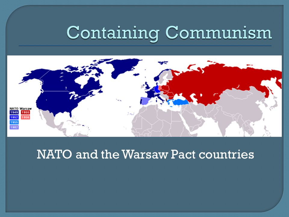 NATO and the Warsaw Pact countries