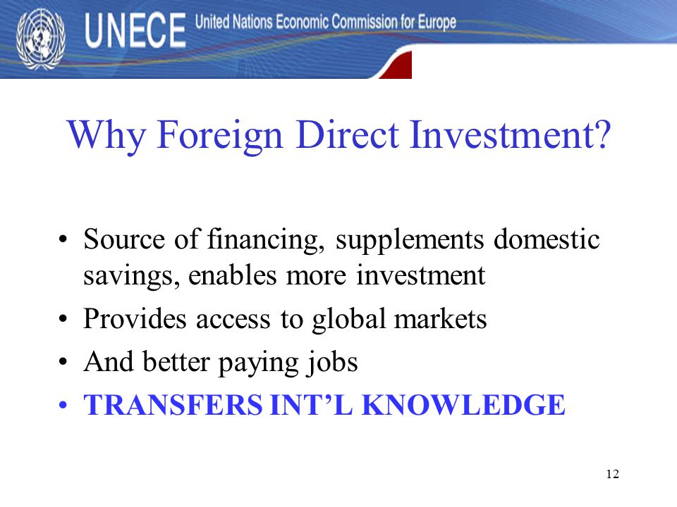 12 Why Foreign Direct Investment.