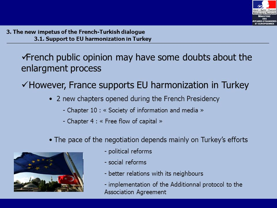 3. The new impetus of the French-Turkish dialogue 3.1.